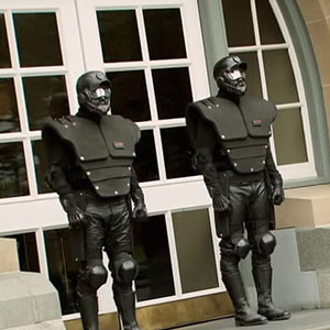 CCPC guarding the Departments front entrance